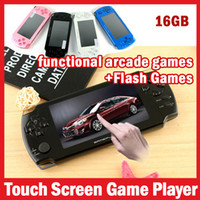 Wholesale 16GB inch Touch Screen MP4 MP5 Players Games Console Handheld Game Player ebook FM MP Camera with retail package