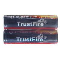 Yes Standard Battery MP3 / MP4 Player Wholesale-407-2PCs Lot Trustfire 18650 Colorful Battery 3.7v 2400 mAh Camera Torch Flashlight Li-ion battery 18650 Rechargeable Battery