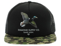 Wholesale Diamond Supply CO Game Assn Black Camo Snapback Hats Mesh Snapbacks Hot Brand New Summer Hats Fashion Hip Hop Cap for Men Women