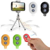 Wholesale Drop Shipping New Bluetooth Self Timer Remote Shutter For Android IOS iPhone S Samsung B6 SV004218
