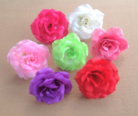 Wholesale 100pcs cm quot Artificial Silk Camellia Rose Fake Peony Flower Heads Wedding Christmas Party Colors for Diy Jewlery Brooch Headwear