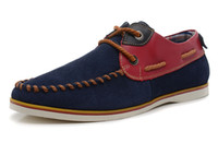 Lace-Up Men Spring and Fall ZENUS british style Men's Fashion Cowhide Quality lace up Daily low cut Casual boat Shoe