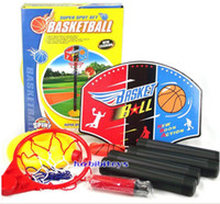 Wholesale set Hot Baby Toys Children Sports Basketball Toys Set Basketball Stands with Tie Pump Outdoor amp Indoor Toy