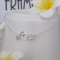 Wholesale New Arrival Sterling Silver Anklets Silver Fashion Jewelry Love Anklets SMTA001