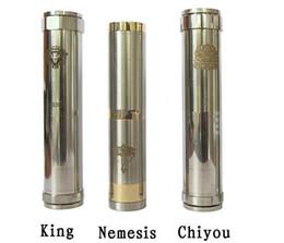 Wholesale Mod verrouillage mécanique bouton du bas réglable King Nemesis Chiyou Avec Retail Package cigarette électronique E Cigarette Mod