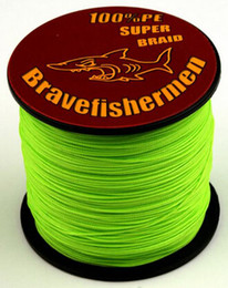 Wholesale HOT x braid PE Fluorescent green dyneema fishing line m ft LB LB High quality complete specifications
