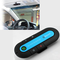 Wholesale Wireless Bluetooth Handsfree Speakerphone Car Kit for Phone iPhone Note Box with Car Charger USB cable Manual Iron Holder