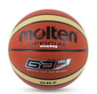 Cheap Wholesale-407-Brand Molten GT7 Basketball Ball High Quality PU Material Official Ball Size 7 Sports Match Basketball Plastic cement floor