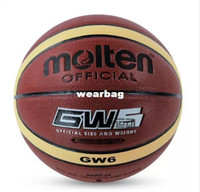 Wholesale Brand Molten GW6 Basketball Ball High Quality PU Material Official Ball Size Sports Match Basketball