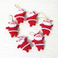 Wholesale 120PCS Santa Claus Christmas Decoration Christmas Trees Pendant Christmas Gift Xmas Adornment Party Ornament