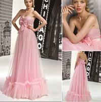 achat en gros de américain chérie rose-American Style sexy sweetheart rose organza Bow Backside Robes de soirée de mode