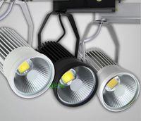 Wholesale COB Track Lights W LED Track Light Super Bright LED Reflector Lamp LED Energy Saving Spotlight led track lighting V