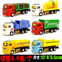 Wholesale Alloy alloy car models sliding truck tanker transport wood stir sanitation garbage truck truck model car