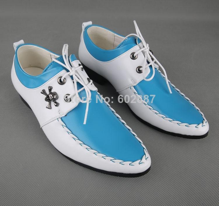 low price s blue and white loafers wedding