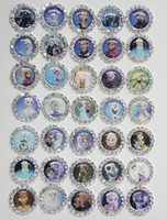 Wholesale Designs mm Frozen Movie Character Flatback Rhinestone Button For Hair Flowers And Invitation BYM18018
