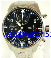 Sport auto nice - Luxury Sport Styles Stainless Steel Pilot s Chronograph Watch mm Day amp Date nice mens watches