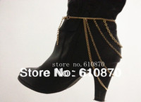 Wholesale New Fashion Gold Women Lady Heel Shoe Boots Ankle Chain Body Anklet Bracelet Foot Jewelry