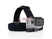 Wholesale Adjustable Elastic Head Stap Belt Helmet with Mount For Gopro Hero Fedex DHL