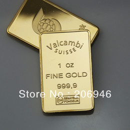Wholesale New Canada crafts Scotiabank oz gold clad plated Bullion Bar in plastic Airtite Valcambi suisse gold bar