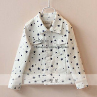 Wholesale Children Jacket Boy Girl White Coat Child Clothing Kids Jacket Children Outwear Boys Girls Denim Jacket Kids Coat Jeans Jacket Baby Clothes