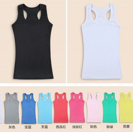 Wholesale summer Fashion women s waistcoat candy colors lady cotton vest tank tops sleeveless Girls Party Gifts min order