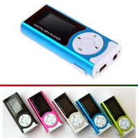 Wholesale New Portable Colorful Clip LCD Screen Colors Mini Clip MP3 Music Player with Speaker Flashlight Support Micro SD TF Slot