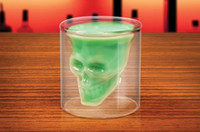 Wholesale DHL FedEx Doomed Crystal Skull Shot Glass Crystal Skull Head mug Vodka Shot Wine Glass Novelty Cup