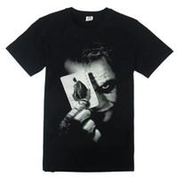 batman dark knight t shirts - Batman The Dark Knight Clown Cotton Black T shirt Jocker Men s Short Sleevse T Shirt S M L XL XXL XXXL