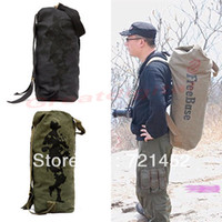 Wholesale Mens Canvas Bag Shoulder Bag Military Backpacks Outdoor Travel