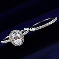 Band Rings Fashion Rings Wholesale women brand jewelry 925 Sterling Silver CZ Micro Pave fire color combo created diamond ring pigeon eggs free shipping