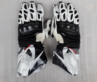 Wholesale new Long sections A Star SP leather gloves carbon fiber motorcycle gloves