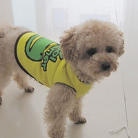 Dog Costumes Unisex Dogs HOT SALES NEW Pet Dog Clothes for Polo Shirt Puppy Doggie Summer Cool Frog Vest Size S-XXL New Free shipping &Drop Shipping