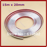 D4986 Styling Mouldings Without Retail Box For Car Auto Decoration Moulding Trim Window Bumper Protector Strip Silver 15M 20mm