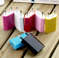 Wholesale 2 Pin USB Travel Home AC Wall Charger Adapter EU US USA Style Out V A For Mobile Phone EMS DHL