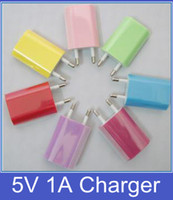 Wholesale 2 Pin EU US Plug USB Travel Home AC Wall Charger Adapter Output V A For iPhone Samsung Mobile Phone DHL FEDEX
