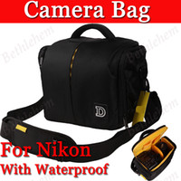 Wholesale Black Professional Waterproof Camera Bag for Nikon D600 D3200 D5200 D7100 D90 D7000 D5100 D3100 D5000 with Waterproof Cover