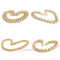 Wholesale Fashion Punk Gold Necklace Chain Aluminum Stainless Steel Jewelry Clothing Making Finding DIY Necklaces Bracelets