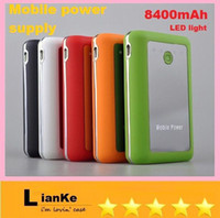 Yes   Wholesale - CHeap GOOD Large capacity Mobile power 8400 mAh mobile Power Bank external power supply phone pad MP3 4