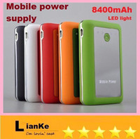 Power Bank other  Wholesale - Cheap Large capacity Mobile power 8400 mAh mobile Power Bank external power supply phone pad MP3 4