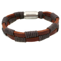 Wholesale Hot selling men leather bracelet trendy design mens bracelets fashion jewelry whole sale
