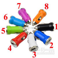Wholesale 10pcs V A Mini usb Car Charger for iPhone G GS S Samsung Galaxy S3 S4 iPod Cell Mobile Phone Charger Adapter