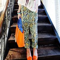 Women Bodysuit Loose New Fashion Women's Clothing Ladies Floral Prints Pattern Casual Wide Leg Palazzo Loose Pants Trousers