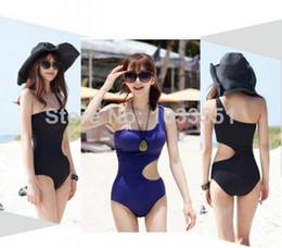 Wholesale Beauty One Shoulder Swimsuit Monokini Bathing Suit One Piece Women Swimwear