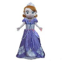 Mascot Costumes People Occupational 2014 New Free Shipping Deluxe Sofia Mascot Costume, Sofia Mascot Costume Real Pictures! Fans do a gift for free