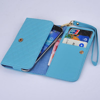 Wholesale Fashion handbag Universal Wallet Case for LG G2 Google nexus E960 nexus E980 women wrist strap cell Phone purse bag cover M