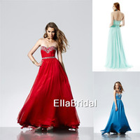 Reference Images Sweetheart Chiffon Free Shipping Empire Dark Red Aqua Chiffon Sweetheart Sleeveless Crystal Beading Prom Dress High Quality W167001