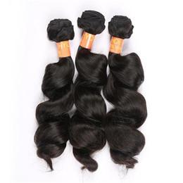 2017 peut teindre remy extensions de cheveux Brésilienne non traitées cheveux Weave 3pcs couleur naturelle peut être teint brésilienne vierge Remy cheveux humains extension de la trame Loose Wave cheveux Bundles peut teindre remy extensions de cheveux ventes