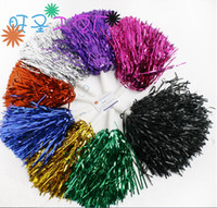 Wholesale 50pcs Pompom Cheering pompom Metalic Pom Pom Cheerleading products G colours D