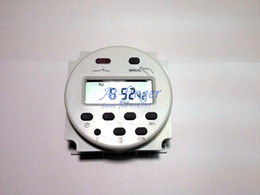 Round 220V Digital LCD Power Programmable Timer Time Switch Relay 16A 250AC H0011