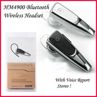 For Apple iPhone Bluetooth Headset Bluetooth 4.0 Headphone Samsung HM4900 Mini Wireless Handsfree Music Stereo Bluetooth 4.0 Headset Universal Earhook Earphone Smart Voice For iPhone Galaxy S4 S5